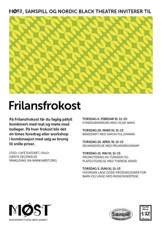 Plakat Frilansfrokost våren 2014