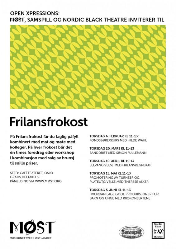Plakat Frilansfrokost vaaren 2014-2