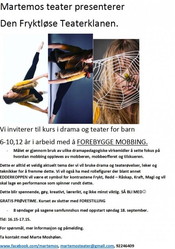 den-fryktlose-teaterklanen-kurs-hosten-2016