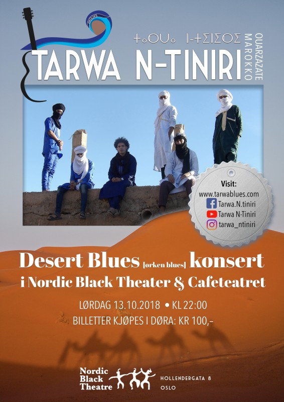 Nordic black theater konsert poster